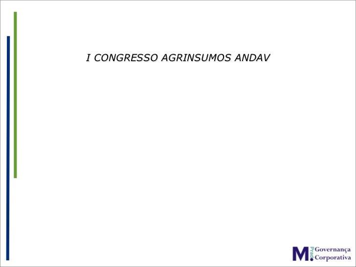 I CONGRESSO AGRINSUMOS ANDAV