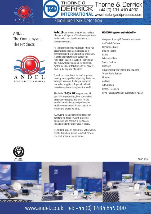 Andel – Leak Detection Cables, Panels, Sensors & Systems