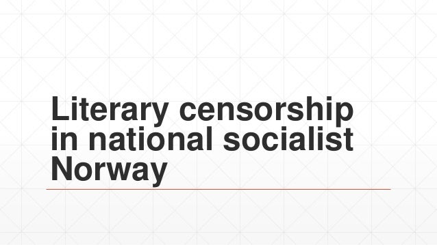 Literary censorship in national socialist Norway