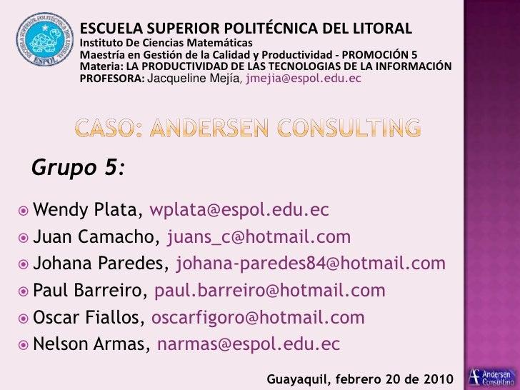 ESCUELA SUPERIOR POLITÉCNICA DEL LITORAL <br />Instituto De Ciencias Matemáticas<br />Maestría en Gestión de la Calidad y ...