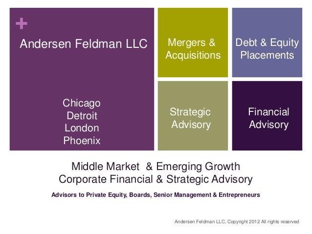 +Andersen Feldman LLC                     Mergers &                     Debt & Equity                                     ...