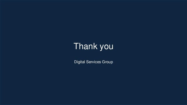 Thank you Digital Services Group