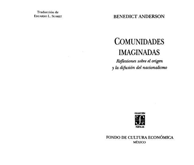 Traducción deEDUARDOL. SUÁREZ     BENEDICT ANDERSON                      COMUNIDADES                       IMAGINADAS     ...