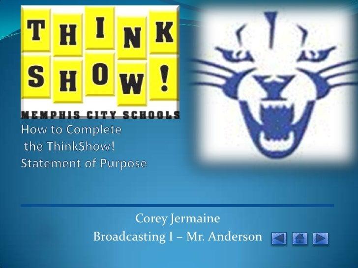 Corey JermaineBroadcasting I – Mr. Anderson