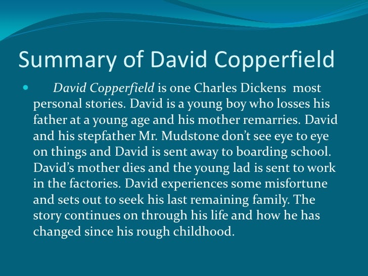 anderson dickens pp summary of david copperfield