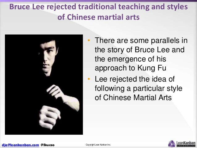 Bruce Lee rejected traditional teaching and styles of Chinese martial arts • There are some parallels in the story of Bruc...
