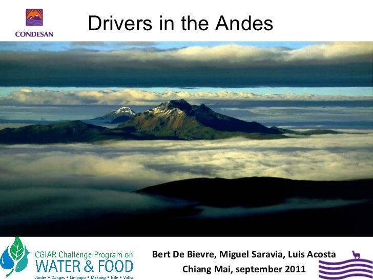 Drivers in the Andes      Bert De Bievre, Miguel Saravia, Luis Acosta             Chiang Mai, september 2011
