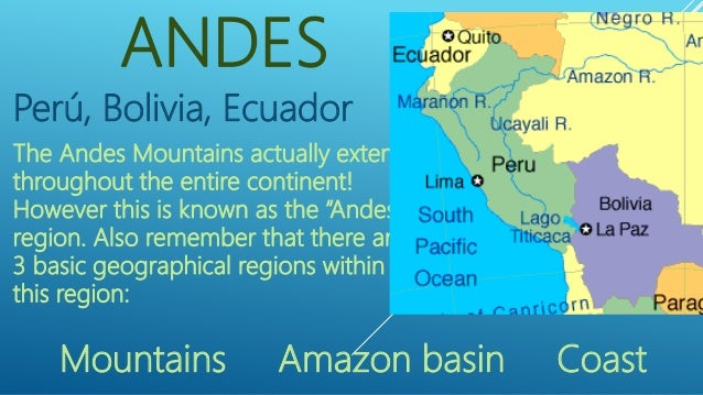 FYS 121 Andes Region