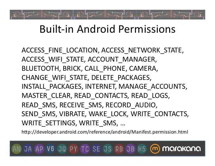 Android permission access network state