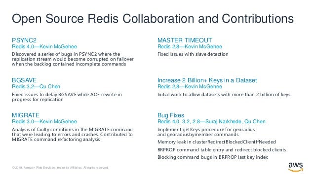 RedisConf18 - Open Source Built for Scale: Redis in Amazon