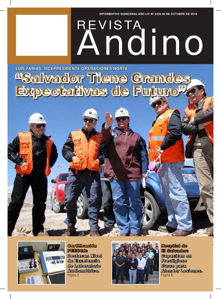 INFORMATIVO QUINCENAL AÑO LIV Nº 2458 09 DE OCTUBRE DE 2010                               Andino                          ...