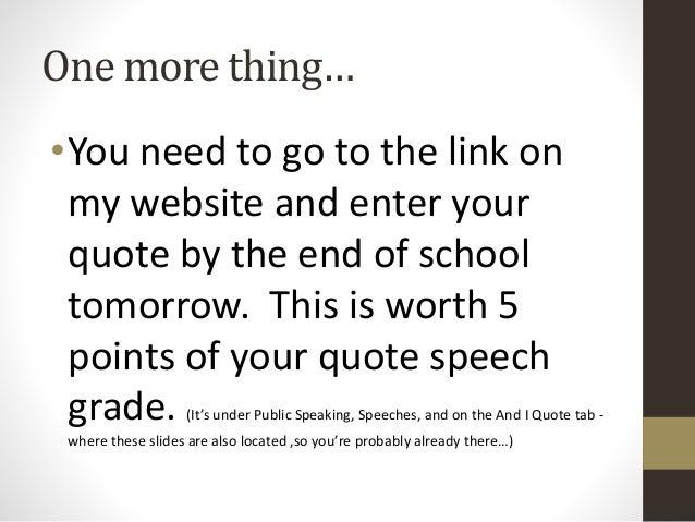 Speech on My School Life