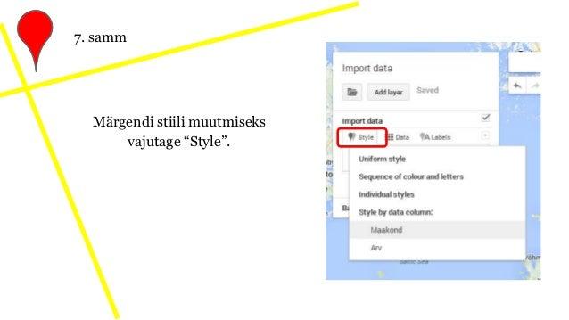 """Märgendi stiili muutmiseks vajutage """"Style"""". 7. samm"""