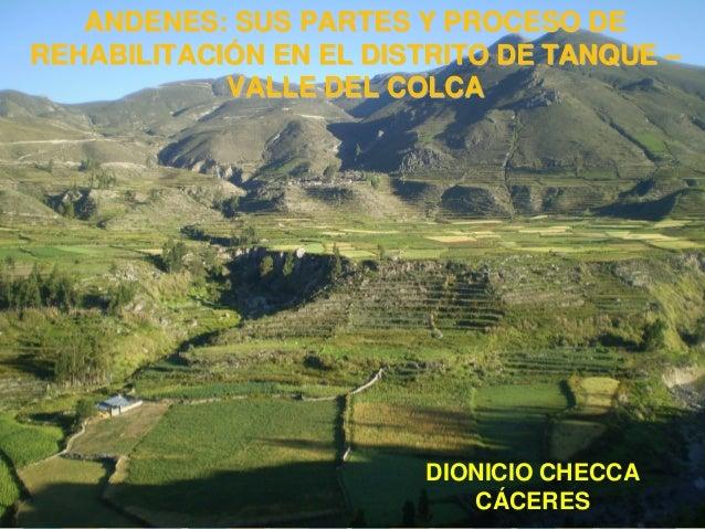 ANDENES: SUS PARTES Y PROCESO DE REHABILITACIÓN EN EL DISTRITO DE TANQUE – VALLE DEL COLCA DIONICIO CHECCA CÁCERES
