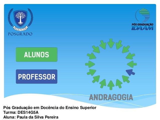 Pós Graduação em Docência do Ensino Superior Turma: DES14G5A Aluna: Paula da Silva Pereira