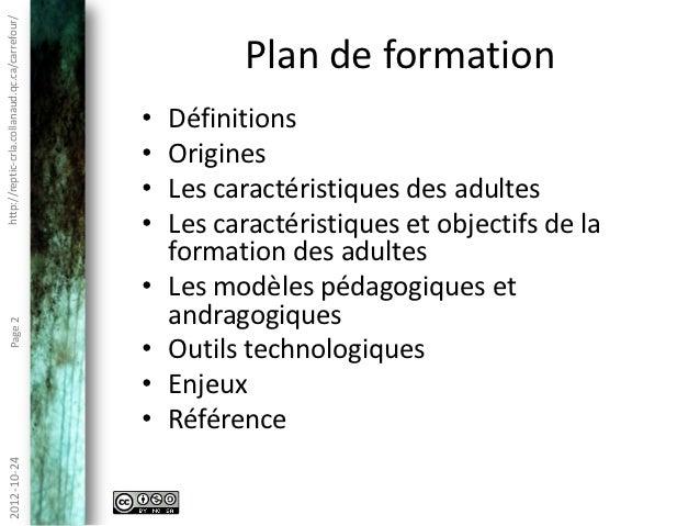 Andragogie et technopédagogie Slide 2
