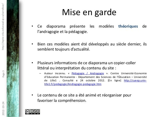 Andragogie et technopédagogie Slide 3