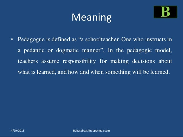 Andragogy pedagogy ppt of human resource management meaning pedagogue mozeypictures Choice Image