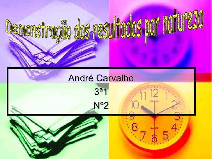 André Carvalho 3ª1 Nº2 Demonstração dos resultados por natureza