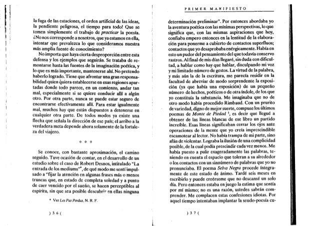 Andre Breton Manifiesto Surrealista