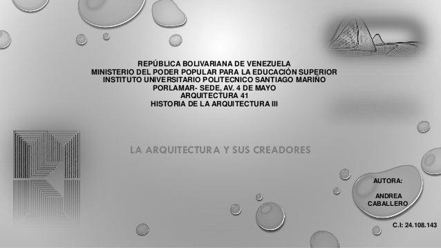 REPÚBLICA BOLIVARIANA DE VENEZUELA MINISTERIO DEL PODER POPULAR PARA LA EDUCACIÓN SUPERIOR INSTITUTO UNIVERSITARIO POLITEC...