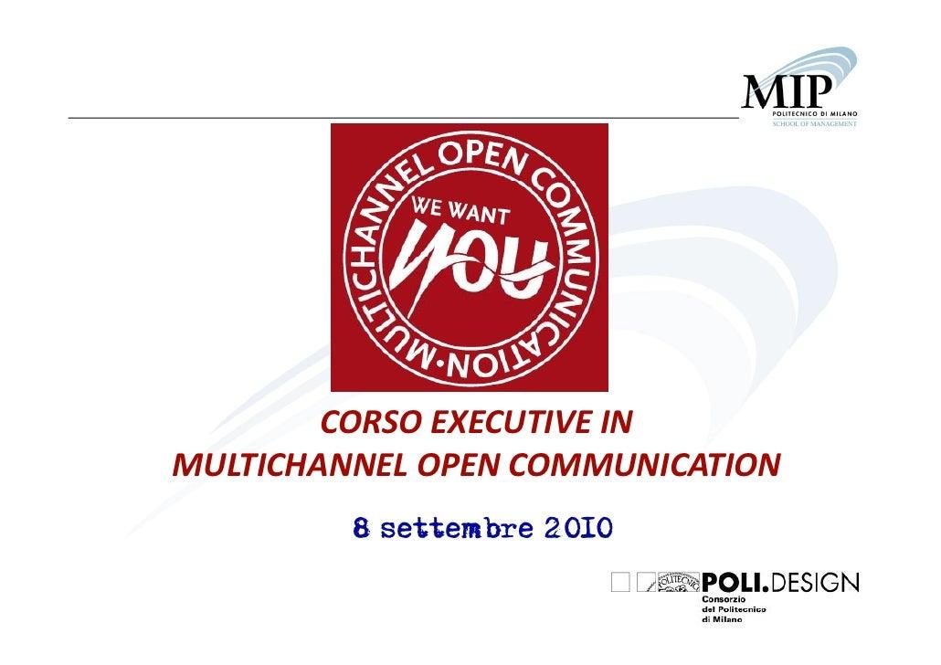 Andrea Boaretto - Multichannel Open Communication - Contest e presentazione del corso