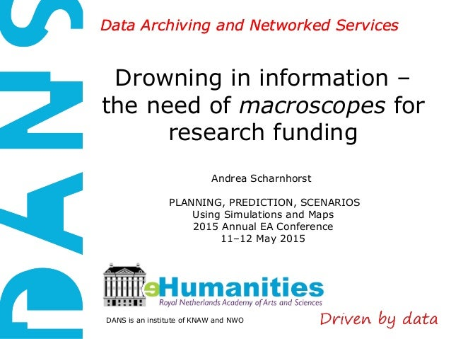 DANS is an institute of KNAW and NWO Data Archiving and Networked ServicesData Archiving and Networked Services Drowning i...