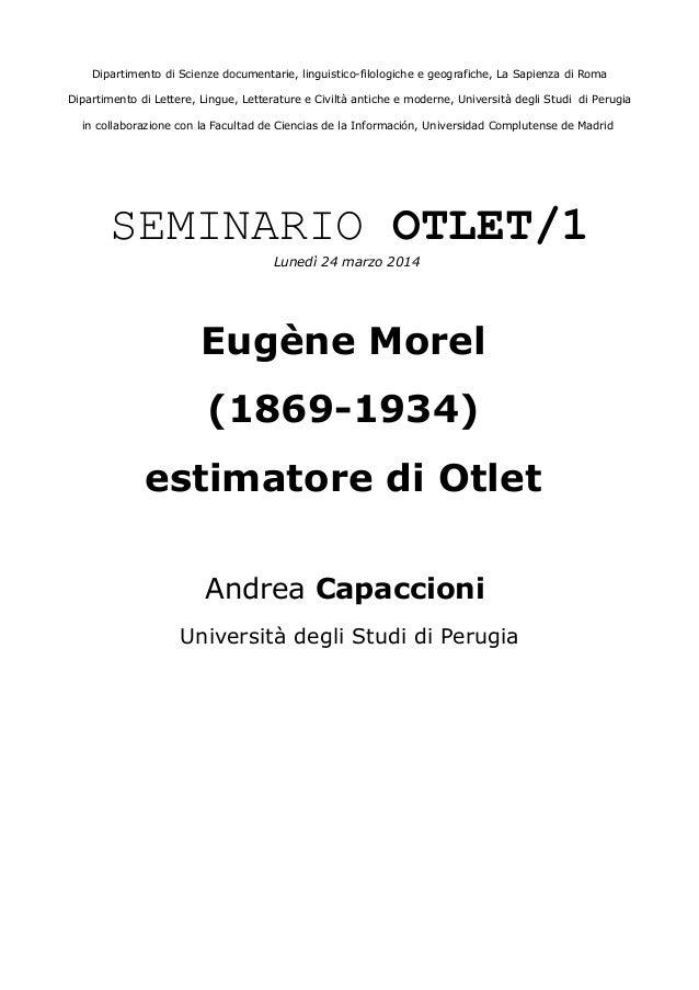 Dipartimento di Scienze documentarie, linguistico-filologiche e geografiche, La Sapienza di Roma Dipartimento di Lettere, ...