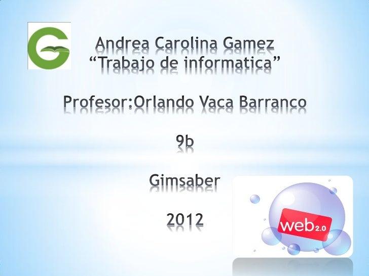 *        * La  Web 2.0 es la representación de la evolución de las          aplicaciones tradicionales hacia aplicaciones ...