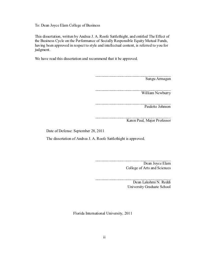 Andrea felten dissertation
