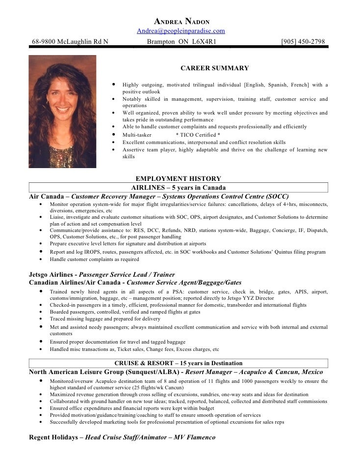 Travel officer sample resume