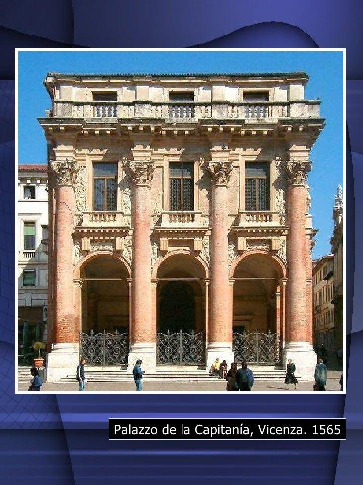 Palazzo de la Capitanía, Vicenza. 1565