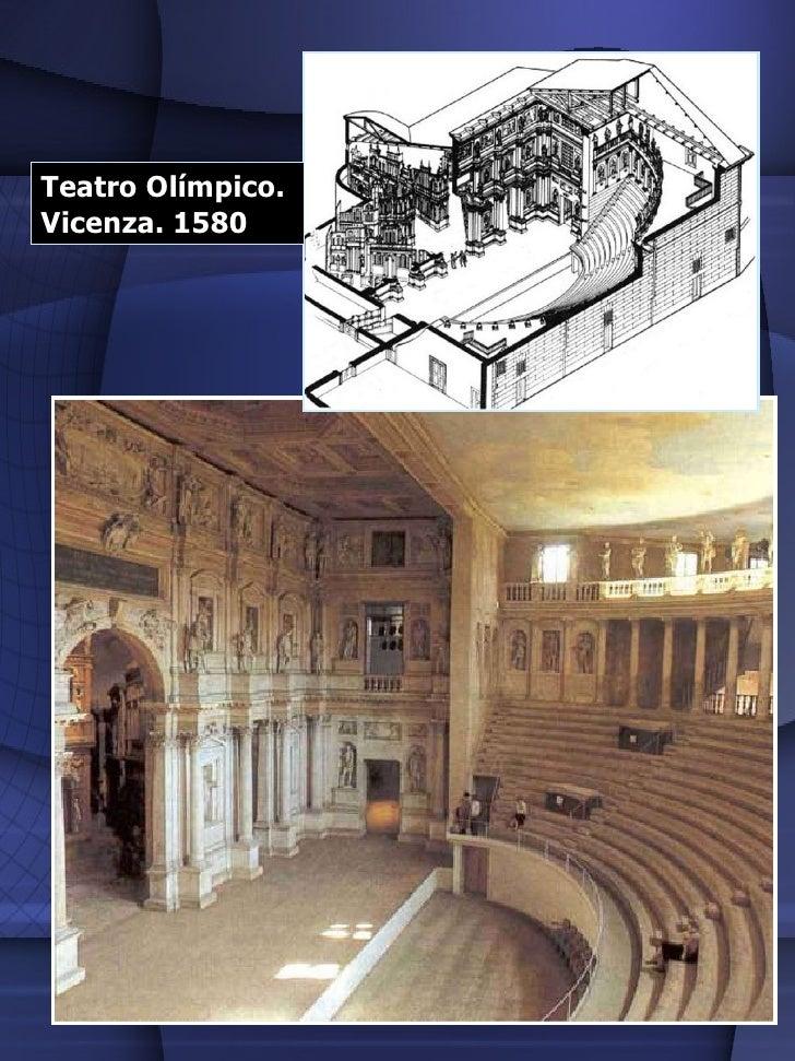 Teatro Olímpico.  Vicenza. 1580