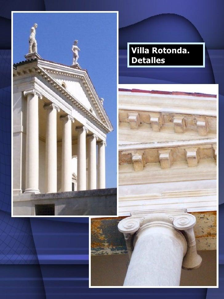 Villa Rotonda.  Detalles