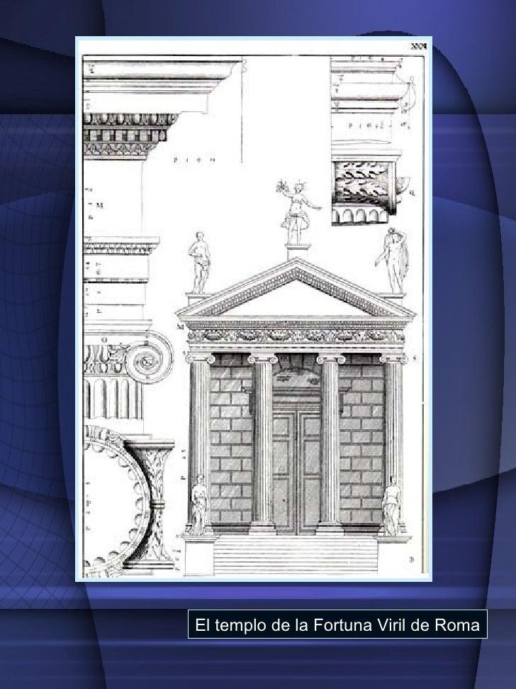 El templo de la Fortuna Viril de Roma