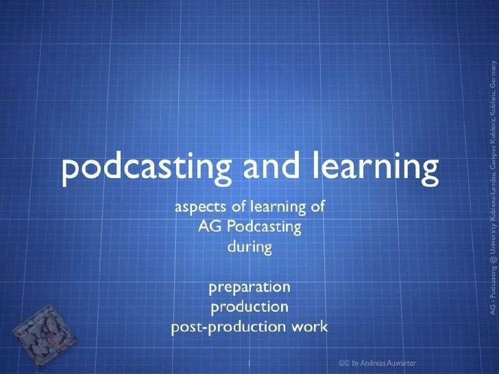 Podcasting and Learning Slide 1