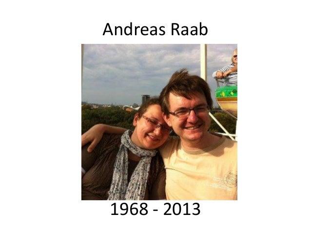 Andreas Raab1968 - 2013