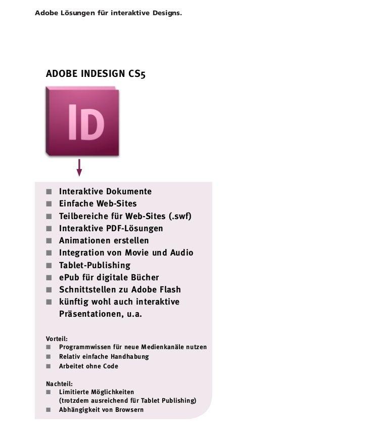 InDesign CS5.5 – Interaktive Dokumente                               Einführung interaktive LösungenAdobe Lösungen für int...