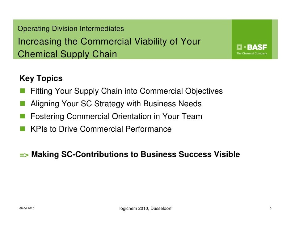 supply chain management a basf On july, 4th, basf is holding a workshop on procurement 40 -putting big data  and advanced analytics to work the event starts with a talk.