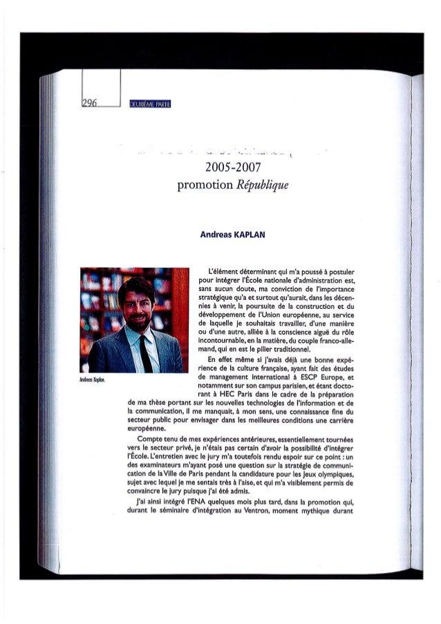 Andreas Kaplan - ENA - Ecole Nationale d'Administration - Promotion République