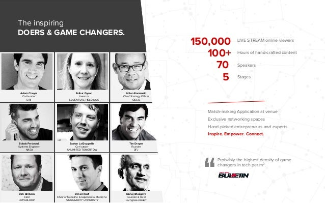 Probably the highest density of game changers in tech per m². Adam Cheyer Co-founder SIRI Hilton Romanski Chief Strategy O...