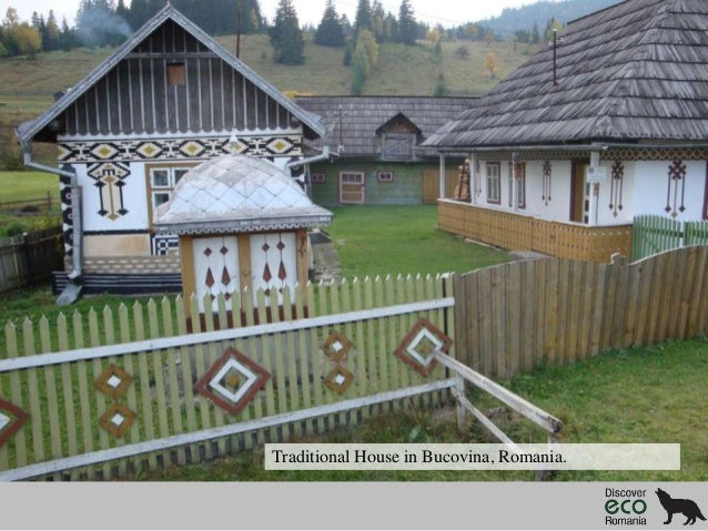 Traditional House in Bucovina, Romania.