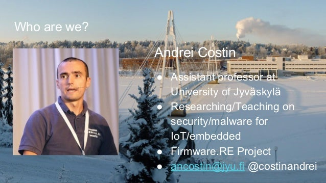 IoT Malware: Comprehensive Survey, Analysis Framework and Case Studies Slide 2