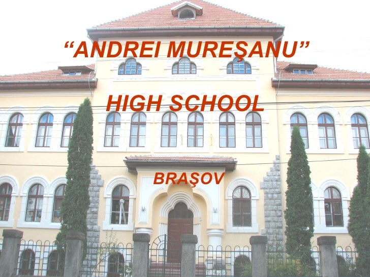 """"""" ANDREI MURE Ş ANU"""" HIGH SCHOOL BRA Ş OV"""