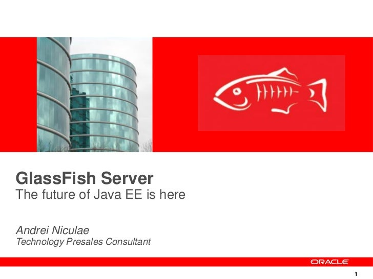 GlassFish ServerThe future of Java EE is hereAndrei NiculaeTechnology Presales Consultant                                 1