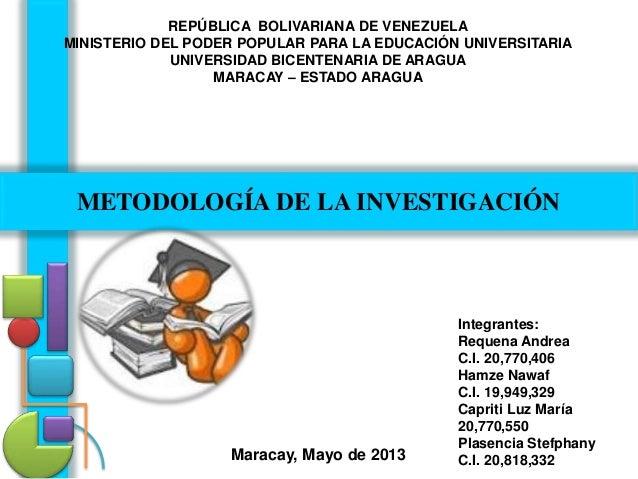 REPÚBLICA BOLIVARIANA DE VENEZUELA MINISTERIO DEL PODER POPULAR PARA LA EDUCACIÓN UNIVERSITARIA UNIVERSIDAD BICENTENARIA D...