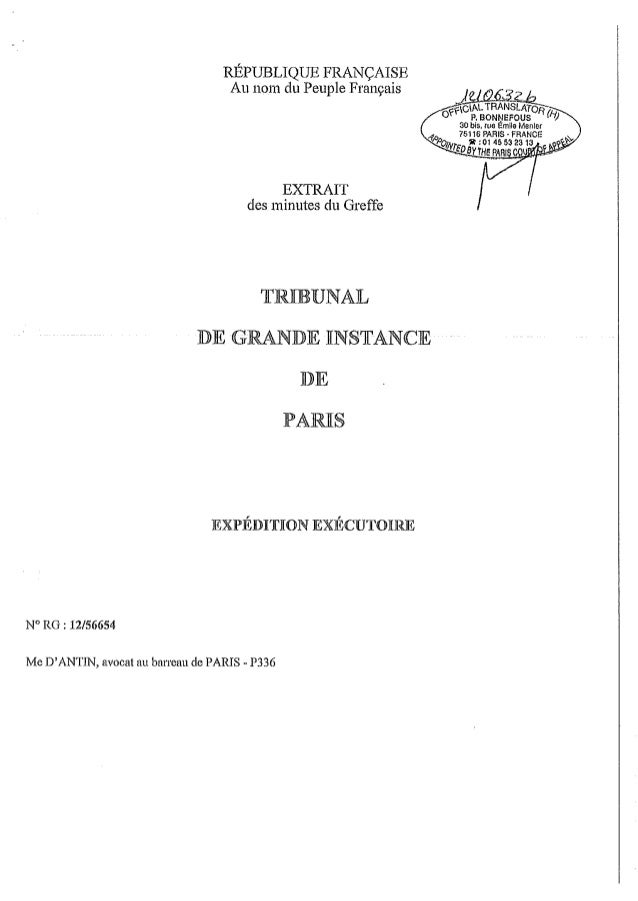 Condamnation dans l'affaire André Muhlberger contre Robert Eringer. Ordonnance de référé du 09/10/2012.