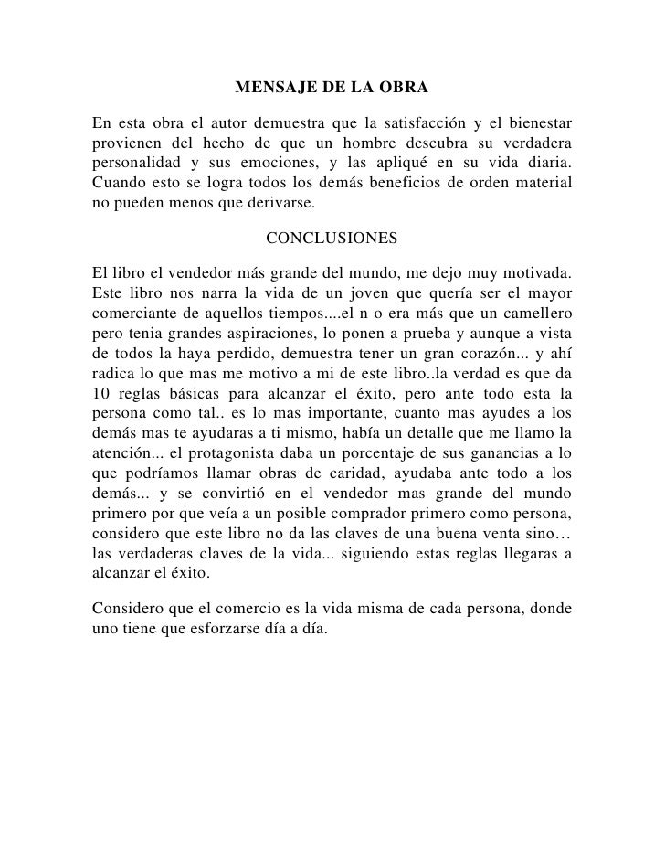 MENSAJE DE LA OBRA<br />En esta obra el autor demuestra que la satisfacción y el bienestar provienen del hecho de que un h...