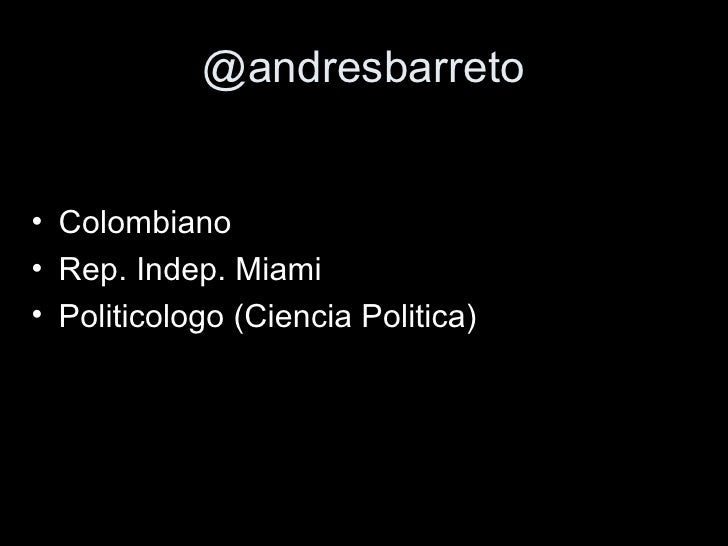 Andres Barreto - TagMe 2010 Slide 2