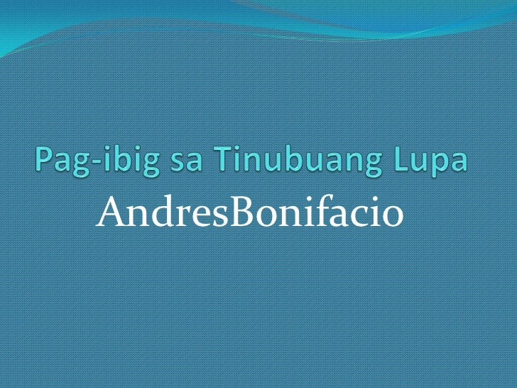 Andres Bonifacio Biography